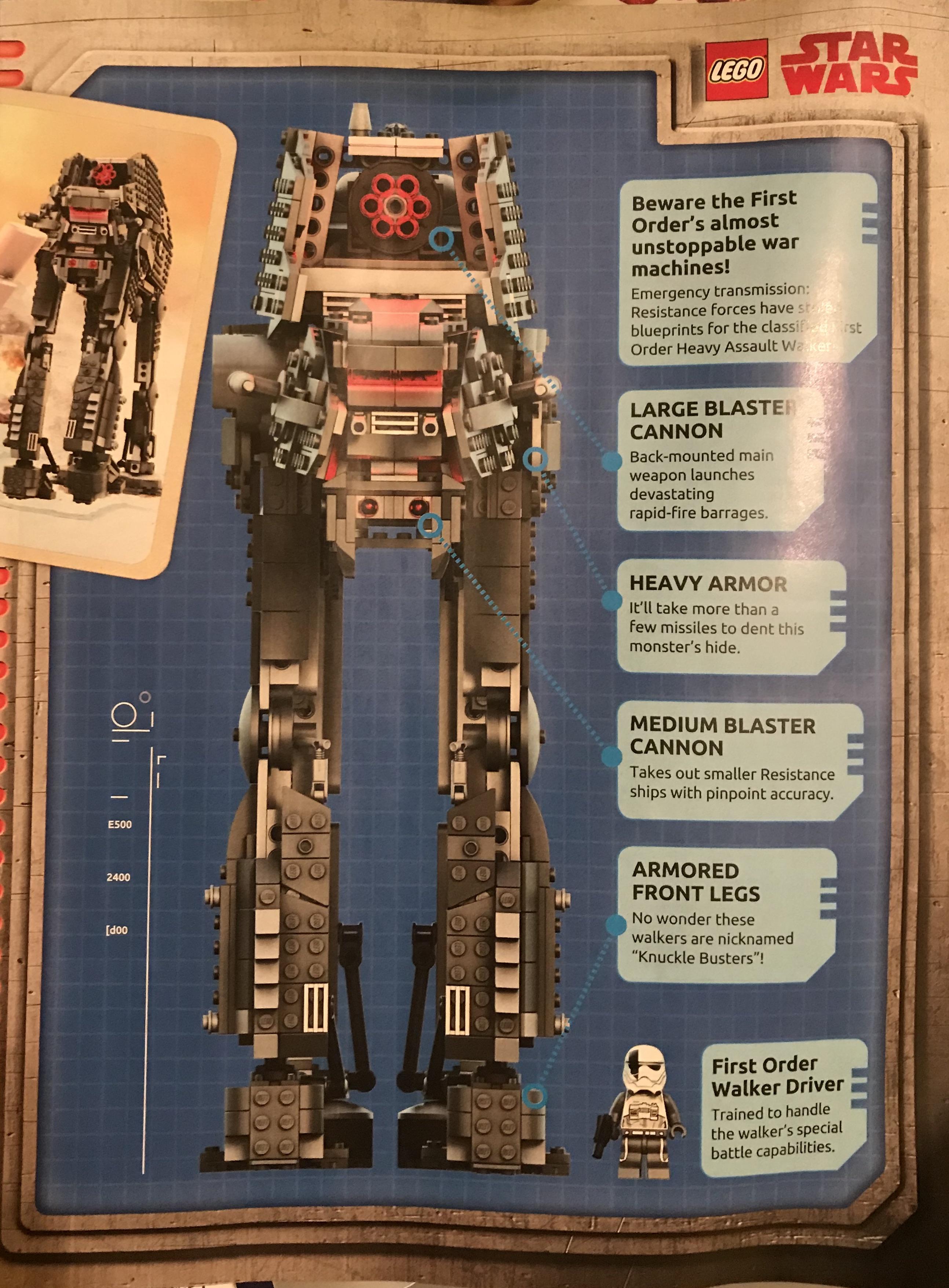 heavy assault walker information from lego life magazine scavenger s holocron scavenger s holocron